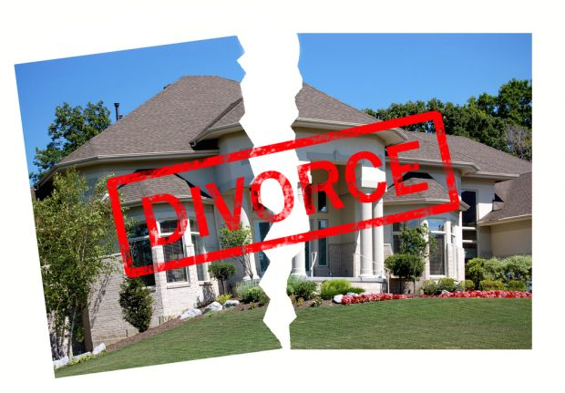 Who leaves the house during a divorce?